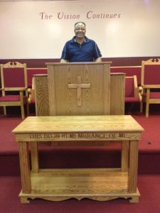 pulpit and communion table