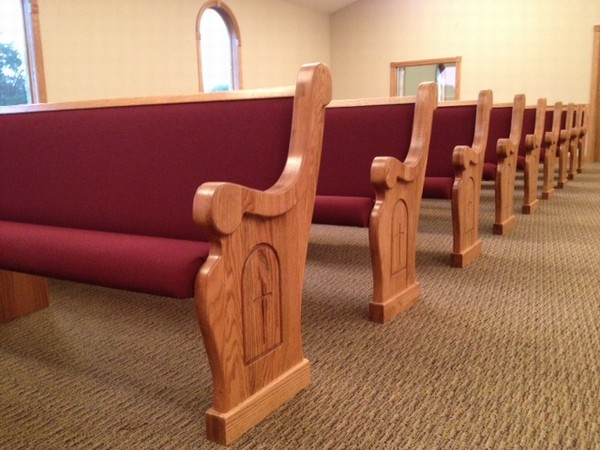 Carved Crosses on Church Pews