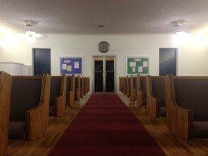 aisle view in church