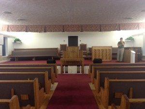 church aisle view