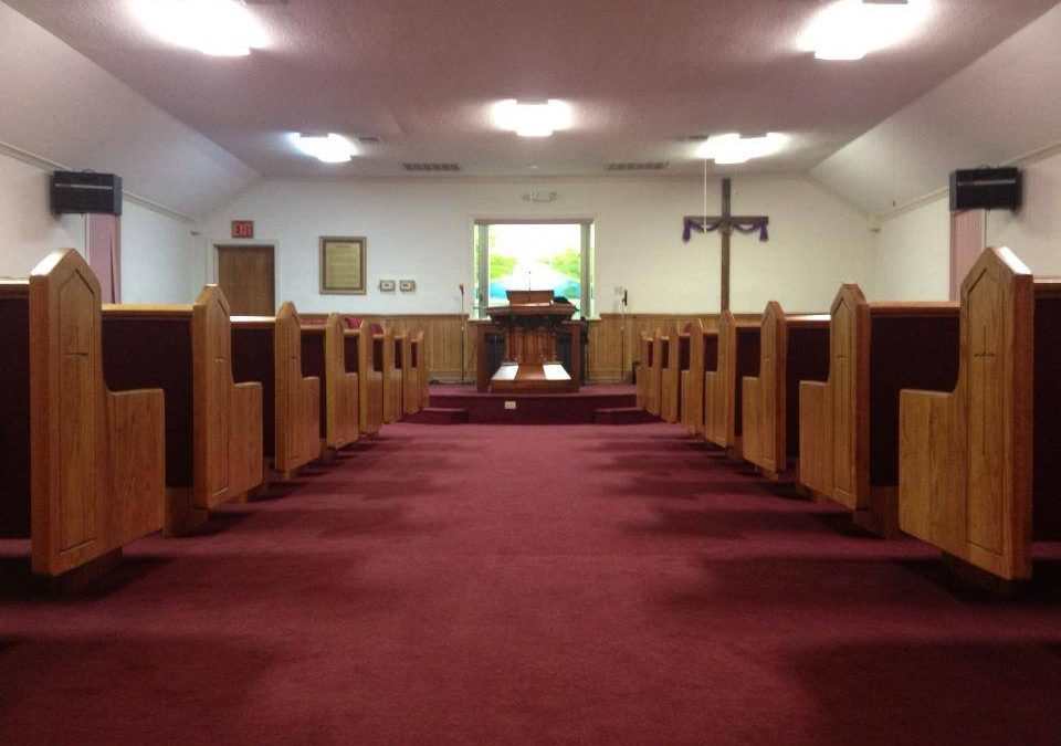Open Spaces With Church Pews at Wayside Baptist