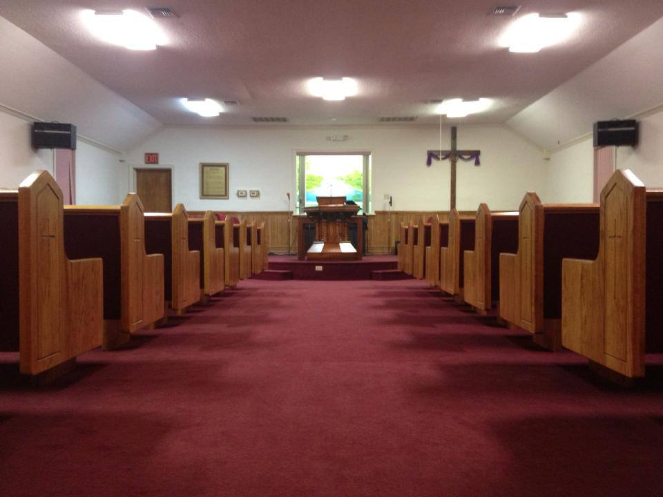 Open Spaces With Church Pews At Wayside Baptist Church