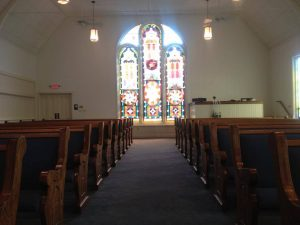 church pews for Dutch-Hill-Bible-Bloomsburg-PA