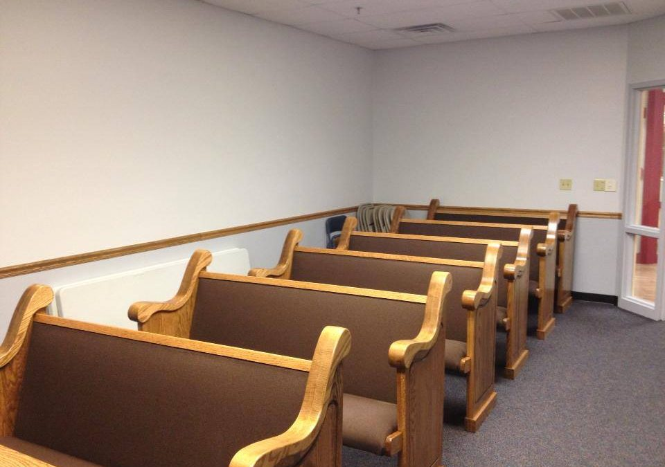 Church Pews for Chapels in Nursing Homes
