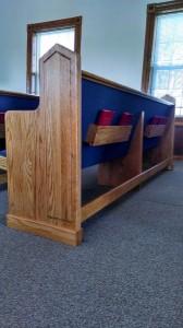 Church pews for Seneca, Mo