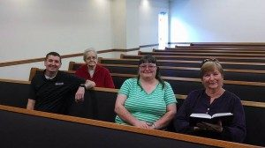 church pews with people