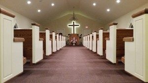 Church Pews in Church North Carolina