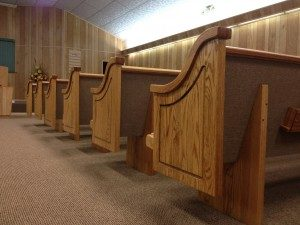 church pews ends