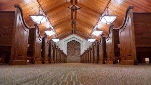 wooden church pews