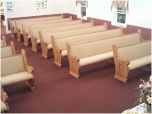 custom church pews