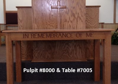 Pulpits Are Available In Natural Stained Or Painted Oak, Individually Or In  Furniture Sets.