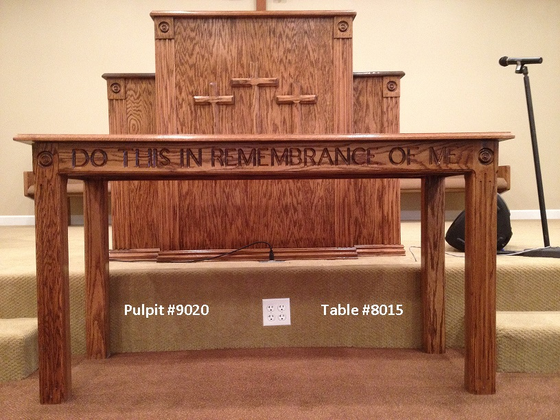 Nice Pulpits Are Available In Natural Stained Or Painted Oak, Individually Or In  Furniture Sets.