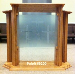 pulpit with glass front