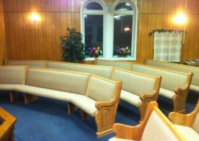 miltered church pews