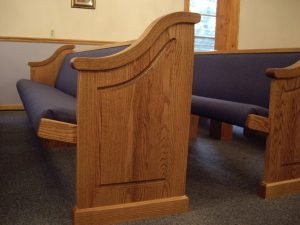 side of church pew