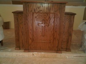 pulpit with cross