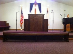 alter and pulpit