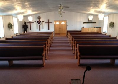 church pews front