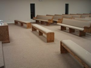 church pews and benches