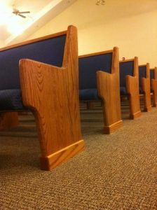 ends of church pews