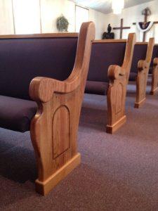church pew ends