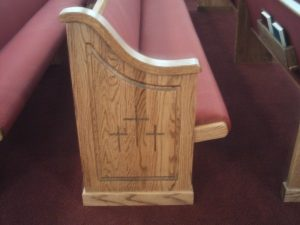 end of church pew