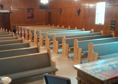 rows of church pews