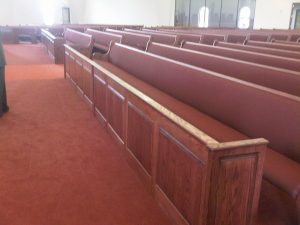 raised panel privacy screens in church