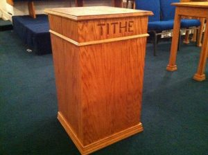 tithe stand