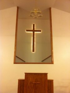 wall cross with backlit