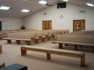 rows of church pews