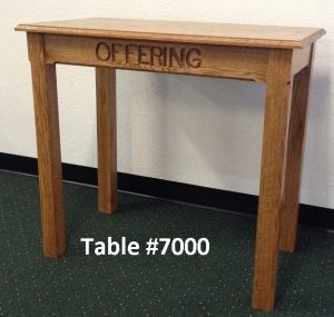 church offering table