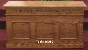 """this do in remembrance of me"" table"