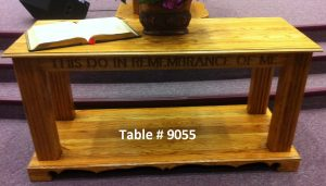 """pulpit table """"this do in remembrance of me"""""""