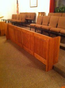 church modesty panel
