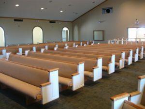 row of church pews