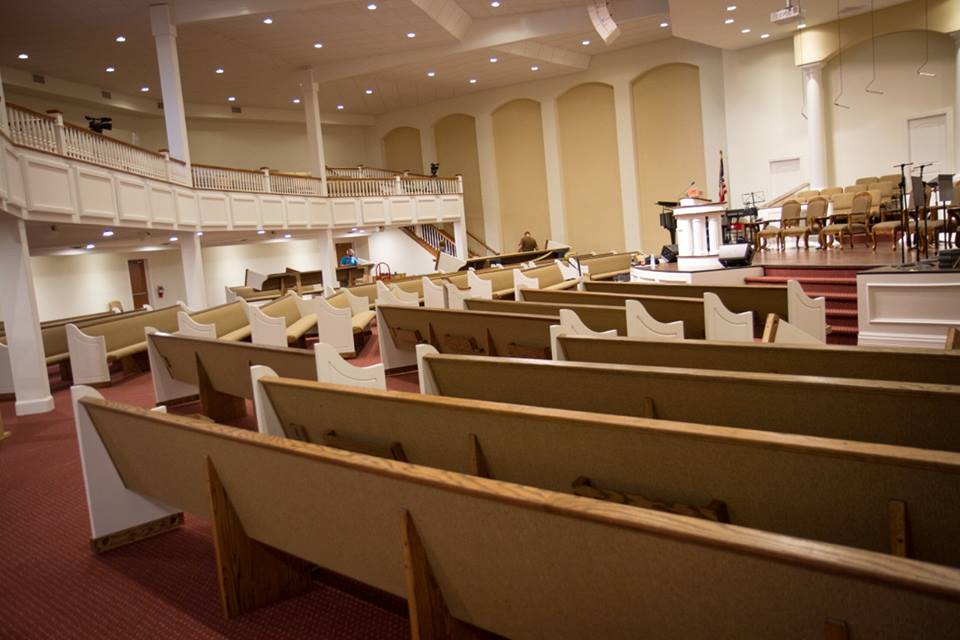 Church Pews Installed in Eros, Louisiana