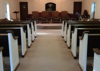 church pews from aisle