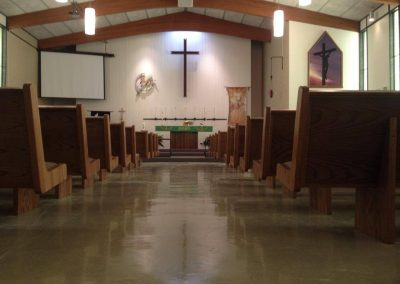 church view from back of the aisle