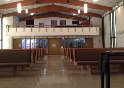 church view from front of the aisle