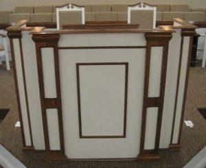 white pulpit