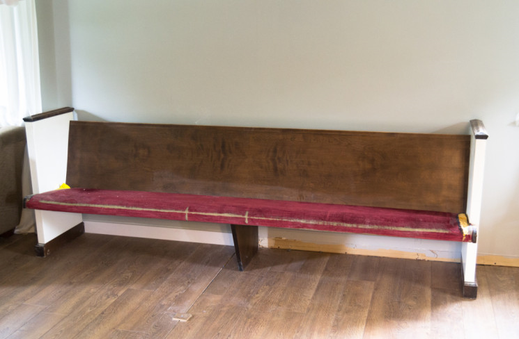 To Replace or Reupholster a Church Pew?