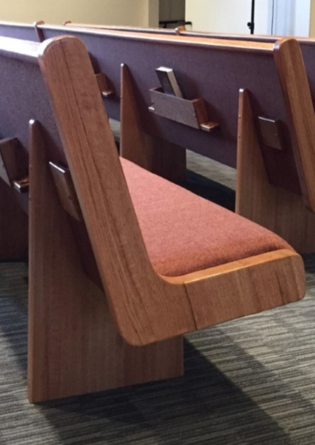 Open-end, comfortable church pews