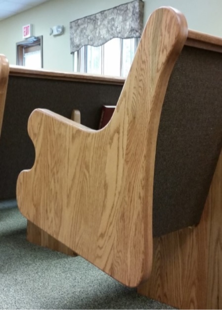 Church pews designed and manufactured by Born Again Pews