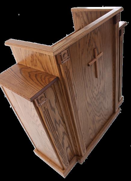 wood pulpit