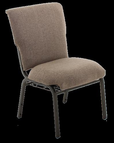 Cushioned church chair
